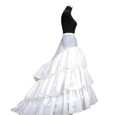 Affordable 3 Bone Hoop Tulle Wedding Petticoats