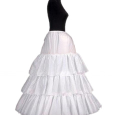 Affordable 3 Bone Hoop Slip Wedding Petticoats
