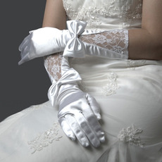 Lycra Elbow with Lace Wedding Glove