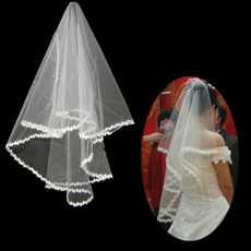 1 Layer Fingertip Length Wedding Veil