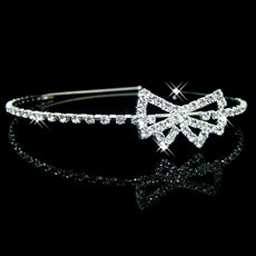 Pretty Alloy With Rhinestone Bowknot Bridal Wedding Tiara