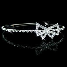Pretty Alloy With Rhinestone Bowknot Bridal Wedding Tiara