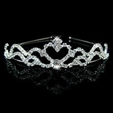 Simple Alloy With Rhinestone Bridal Wedding Tiara