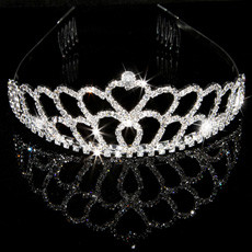 Luxious Alloy With Rhinestone Bridal Wedding Tiara