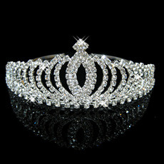 Modern Alloy With Rhinestone Bridal Wedding Tiara