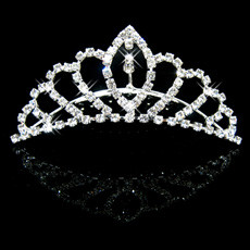 Elegant Alloy With Rhinestone Bridal Wedding Tiara