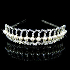 Unique Alloy With Pearl Bridal Wedding Tiara