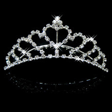 Designer Alloy With Rhinestone Bridal Wedding Tiara