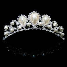 Fahionable Alloy With Pearl Bridal Wedding Tiara