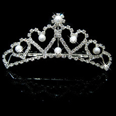 Most popular Alloy With Pearl Bridal Wedding Tiara