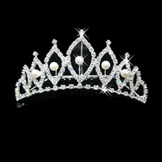 Lovely Alloy With Pearl Bridal Wedding Tiara