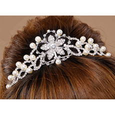 Classic Alloy With Pearl Bridal Wedding Tiara