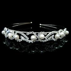 Nice Alloy With Pearl Bridal Wedding Tiara