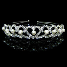 Sexy Alloy With Pearl Bridal Wedding Tiara
