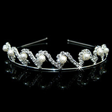Hot sale Alloy With Pearl Bridal Wedding Tiara