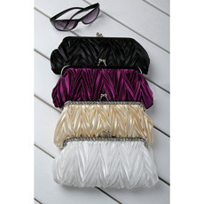Unusual Satin Evening Handbags/ Clutches/ Purses with Rhinestone