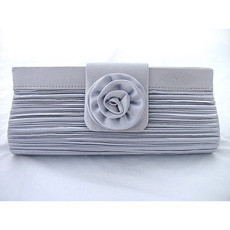 Relaible Satin Evening Handbags/ Clutches/ Purses with Flower