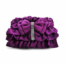 Vogue Satin Evening Handbags/ Clutches/ Purses with Bowknot