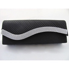 Chic Satin Evening Handbags/ Clutches/ Purses with Rhinestone