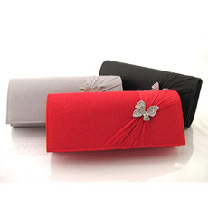 Summer Satin Evening Handbags/ Clutches/ Purses with Rhinestone