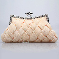 Modest Satin Evening Handbags/ Clutches/ Purses with Rhinestone