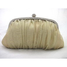 Leisure Satin Evening Handbags/ Clutches/ Purses with Rhinestone