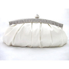 Gorgeous Satin Evening Handbags/ Clutches/ Purses with Rhinestone