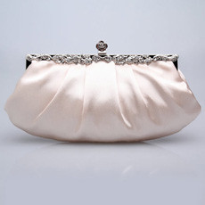 Budget Satin Evening Handbags/ Clutches/ Purses with Rhinestone