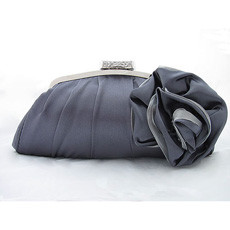 Newest Satin Evening Handbags/ Clutches/ Purses with Flower