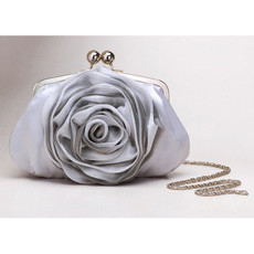 Fahionble Silk Evening Handbags/ Clutches/ Purses with Flower