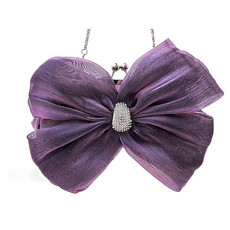 unique Silk Evening Handbags/ Clutches/ Purses with Bowknot