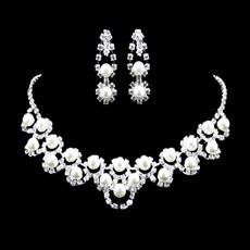 Timeless Crystal Earring Necklace Set Wedding Bridal Jewelry Collection