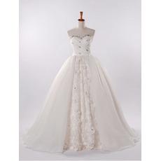 Inexpensive Modern A-Line Sweetheart Church Bridal Wedding Dresses