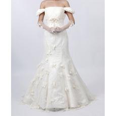 Fall Inexpensive Mermaid Satin Long Church Bridal Wedding Dresses