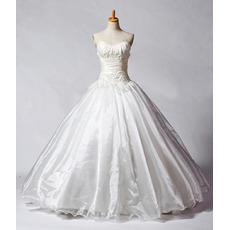 Fall Elegant A-Line Sweetheart Church Bridal Wedding Dresses