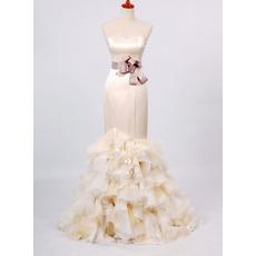 Elegant Mermaid Sweetheart Floor Length Church Wedding Dresses
