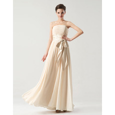 Sweet Empire Strapless Ankle Length Chiffon Bridesmaid Dresses