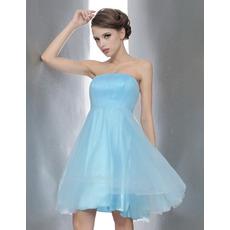 Princess A-line Strapless Short Bridesmaid/ Homecoming/ Cocktail Dresses