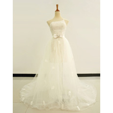 Popular Sheath/ Column One Shoulder Short Wedding Dresses with Detachable Train
