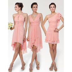Romantic Sheath/ Column Chiffon Bridesmaid Dresses for Spring/Summer Wedding