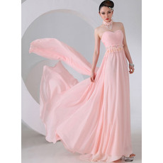 Beautiful Sheath Sweetheart Chiffon Floor Length Empire Evening/ Prom Dresses