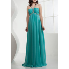 Foraml Chiffon Empire Spaghetti Straps Long Evening/ Prom Dresses