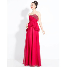 Amazing Chiffon Sweetheart Column Floor Length Evening Dresses