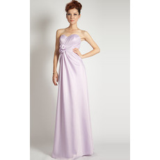 Discount Column Sweetheart Satin Floor Length Evening Dresses
