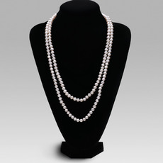 Discount White 6.5 - 8.5mm Freshwater Off-Round Pearl Necklace