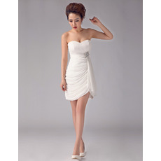 Sexy Sheath Sweetheart Chiffon Short/ Mini Dresses for Summer Beach Wedding