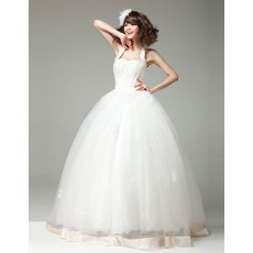 Amazing Ball Gown Halter Floor Length Satin Organza Wedding Dresses