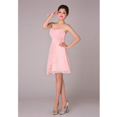 Sweety A-Line Sweetheart Short Chiffon Bridesmaid Dresses