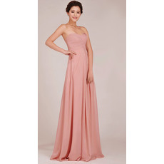 Popular Sweetheart Chiffon Floor Length Empire Bridesmaid Dresses