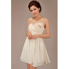 Discount Short Empire Sweetheart Chiffon Bridesmaid Dresses